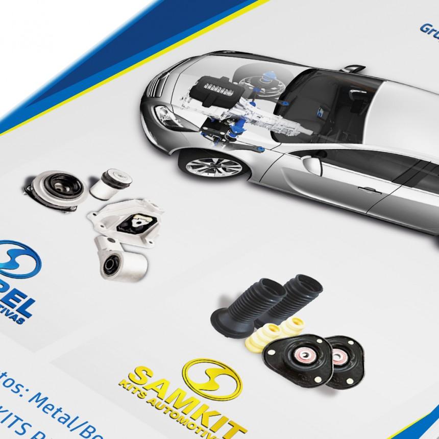 Catálogo de produtos Sampel - Projeto Gráfico